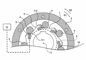 Rotation-blocking device with simplified structure, and actuator comprising such a device
