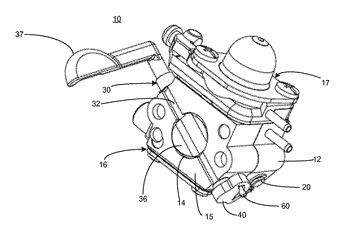 Carburetor with one piece choke valve and shaft assembly