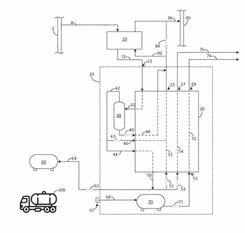 Apparatus for the production of liquefied natural gas