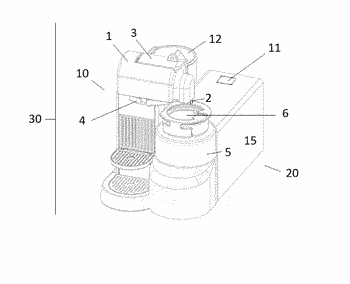 Beverage preparation device for preparation of a cooled and foamed beverage