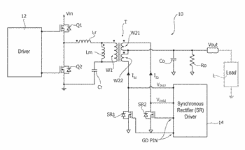 Driver circuit for synchronous rectifier switches in resonant converters, corresponding converter and method