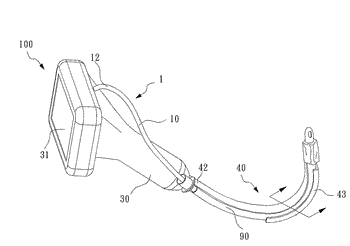 Flexible bar-shaped camera and intubation device thereof