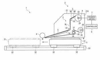 Support device for band-shaped sheet, and method for managing band-shaped sheet