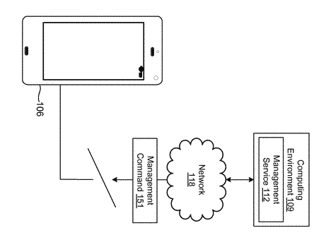 Transmitting management commands to a client device