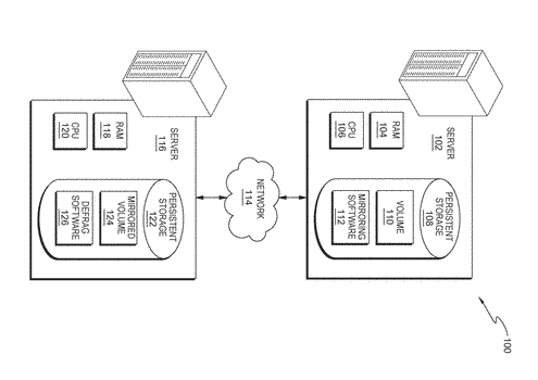 Shifting a defrag operation in a mirrored system
