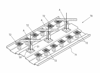 Antenna device and its dipole element with group of  loading metal patches