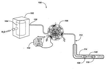 Methods and apparatus for clearing obstructions with a jetter push-cable apparatus