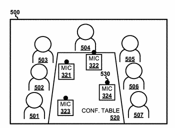 Enhancement of audio captured by multiple microphones at unspecified positions