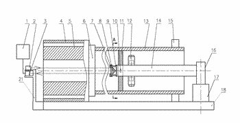 Rear-mounted deep hole machining on-line detection and deviating correction device