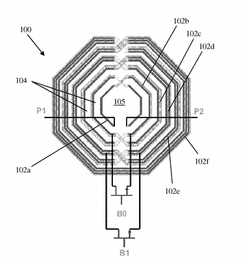 Multi-frequency inductors with low-k dielectric area
