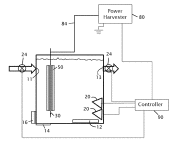 Method and apparatus for converting chemical energy stored in wastewater
