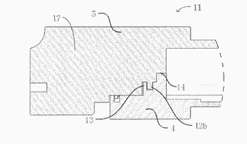 Emi shielding device for an optical transceiver