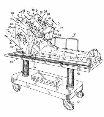 Protective enclosure for, and method of, protecting a patient on a stretcher