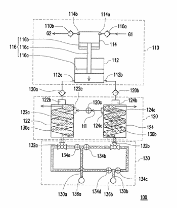 Gas compression system and method of compressing gas using the gas compression system