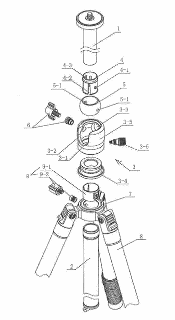 Transverse tube and a photography equipment support