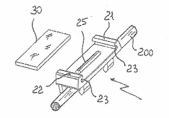 Label-holder element for electric wires