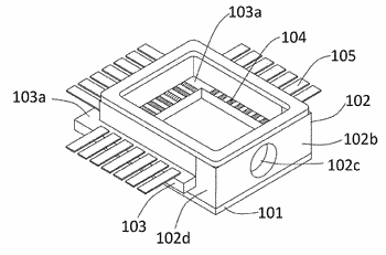 Container for housing electronic component and electronic device