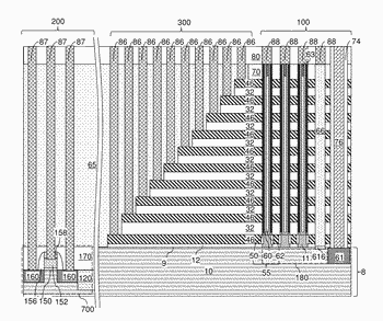 Within array replacement openings for a three-dimensional memory device