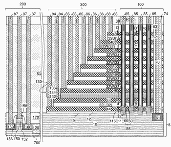 Split memory cells with unsplit select gates in a three-dimensional memory device