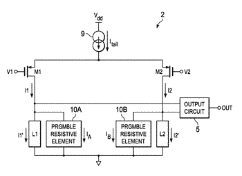 Mismatch correction in differential amplifiers using analog floating gate transistors