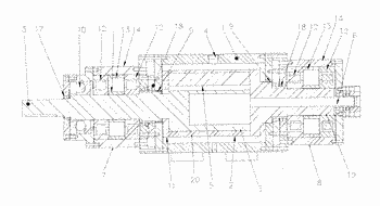 Rotary fluid machinery and method for eliminating axial rotor displacement