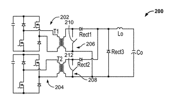 Multiphase interleaved forward power converters including clamping circuits