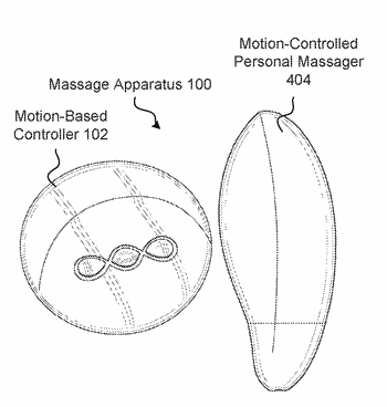 Motion-based control for a personal massager