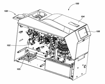 Card handling devices and related assemblies and components
