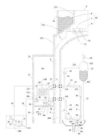 Passive containment heat removal system and control method thereof