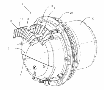 Cover device for an electronics housing of an electric motor