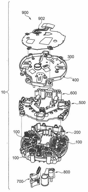 Electronic architecture intended to supply an electric machine for automotive vehicle