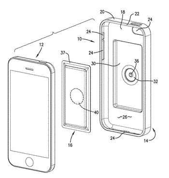 Heating case for a portable electronic device