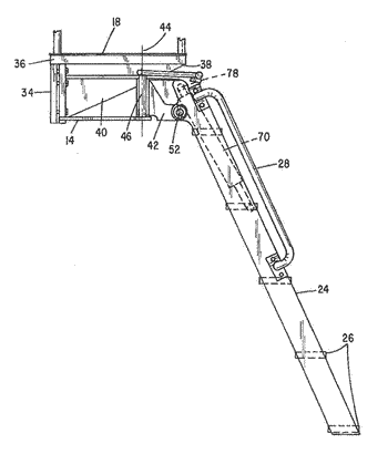 Powered ladder for large industrial vehicles