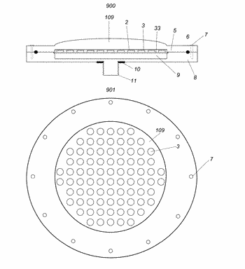 Diffractive and prismatic oled wireless and led wireless underwater pool light sources