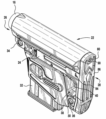 Stock and detachable accessory housing for a small arms weapon