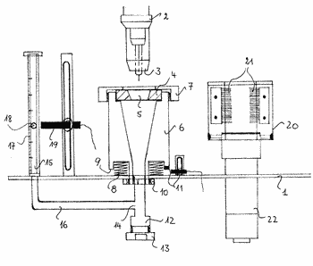 Arrangement for measuring the quantity of protective gas