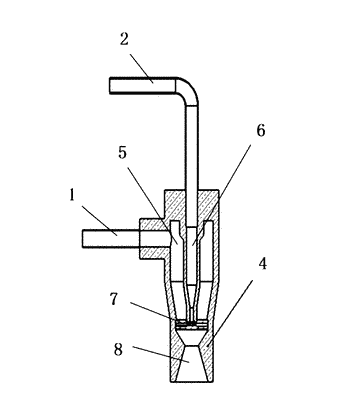 Cleaning device for atomizing and spraying liquid in two-phase flow
