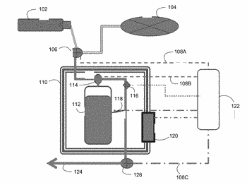 Methods and systems for the delivery of dissolved gases and de-gassing medical fluid lines