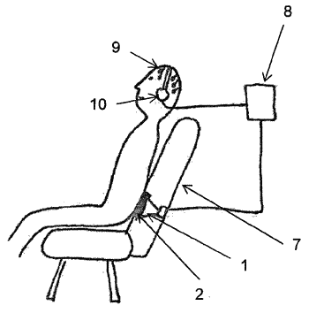 A device for the treating of pain with high amplitude low frequency sound impulse stimulation