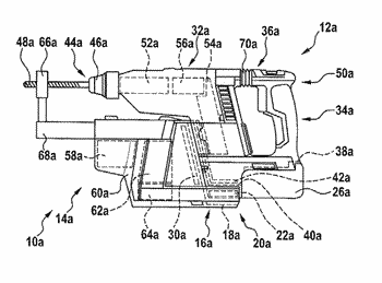 Suction device for a portable power tool