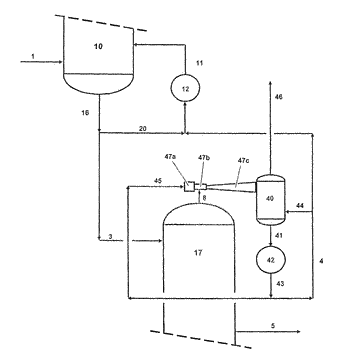 Process and system for producing acrylic acid