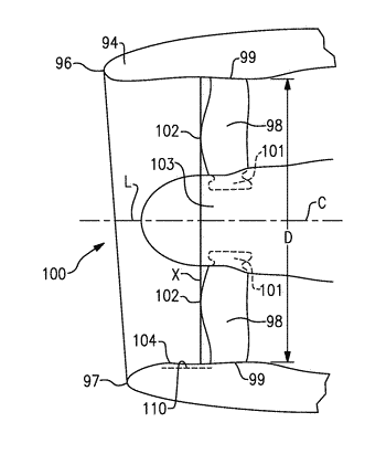 Gas turbine engine with short inlet and blade removal feature
