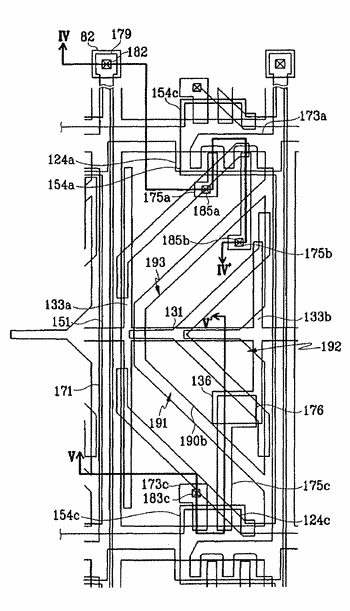 Liquid crystal display and panel therefor