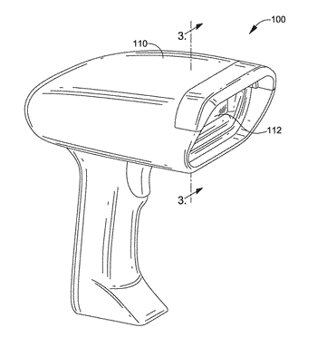 Window-retaining, protective cap for scanning device