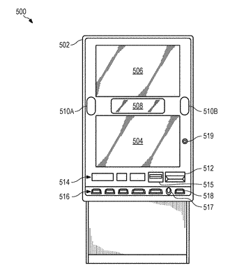 Electronic gaming device with external lighting functionality