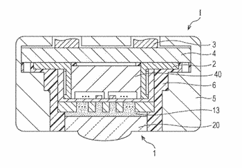 Vibrating plate structure and piezoelectric element application device