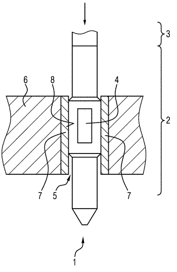 Plug contact with organic coating and printed circuit board arrangement