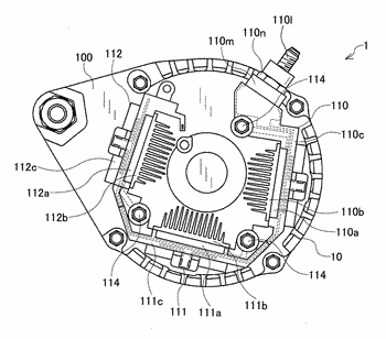 Controller-included rotating electrical machine