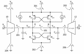 Programmable-gain amplifier, corresponding device and method