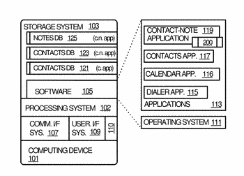 Contact-note application and services